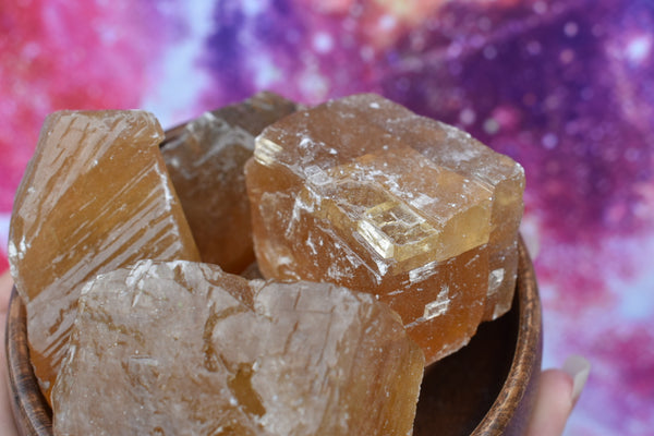 Raw Medium Honey Calcite Chunk