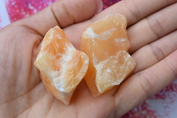 Raw Orange Calcite Chunk