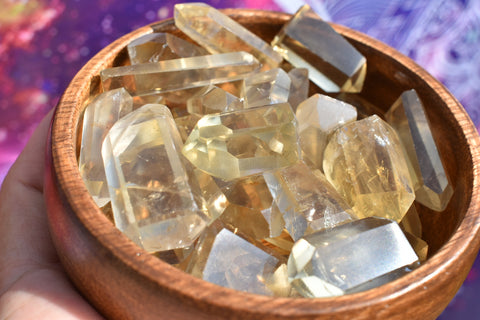 (3) Mini Citrine Points