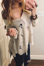 Distressed Sweater - SOVA Boutique