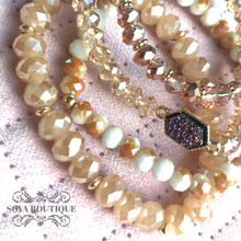 Multi-Bead Druzy Bracelet Set