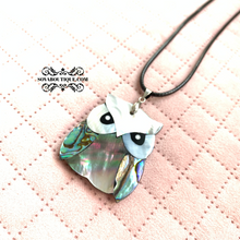 Mother of Pearl Owl Necklace