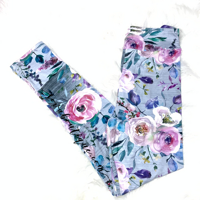 Custom Designed Blooming Flowers Leggings