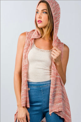 Hooded Cardigan Vest