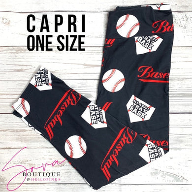 Custom Designed Capri Baseball Leggings