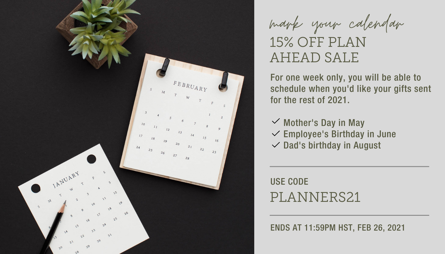 Planners Sale 15% Discount