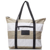 Splash Proof Tote, Sandy Stripes