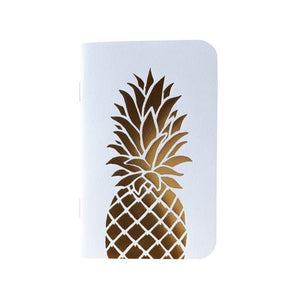 Mini Notebook: Gold Pineapple