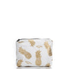 Small Splash Proof Bag, White Pineapples
