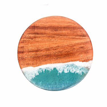 Koa Wood Cheeseboard with Resin Art