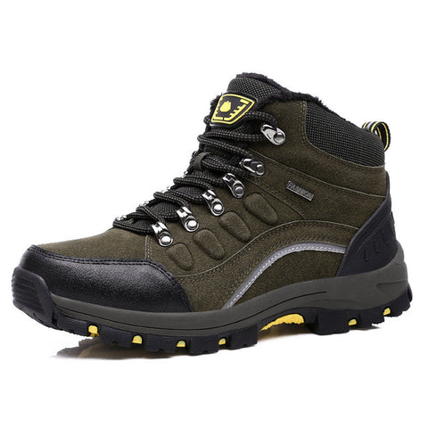 Leather Mountain Trekking Shoes - Outdoor Sporting Goods