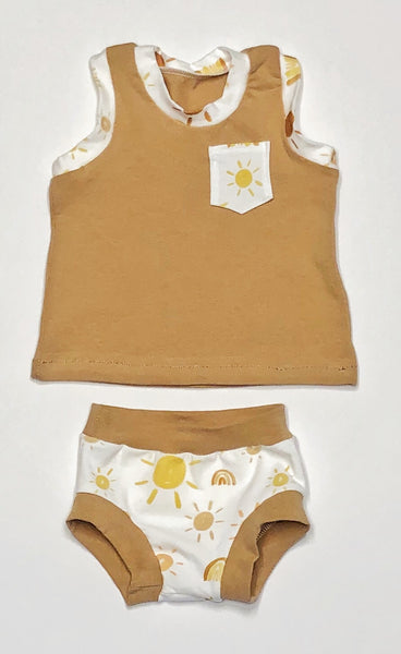 Golden Glow Tank & Bummie Set