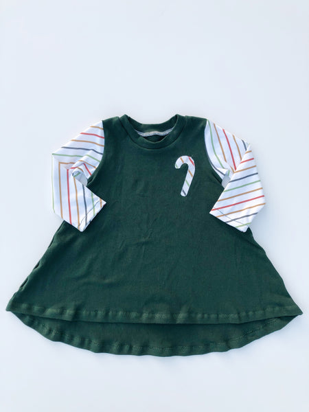 Candy Cane Stripe Tee Dress