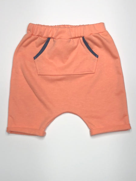 Peach French Terry Harem Shorts