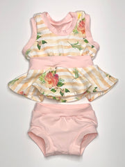 Garden Party Peplum & Bummie Set