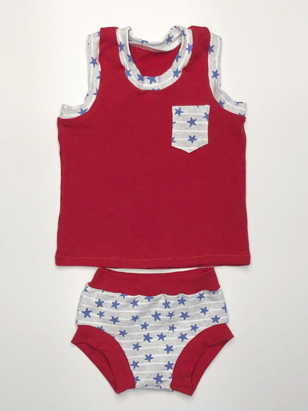 Stars and Stripes Tank & Bummie Set