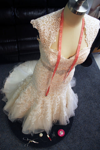 Wedding gown alterations