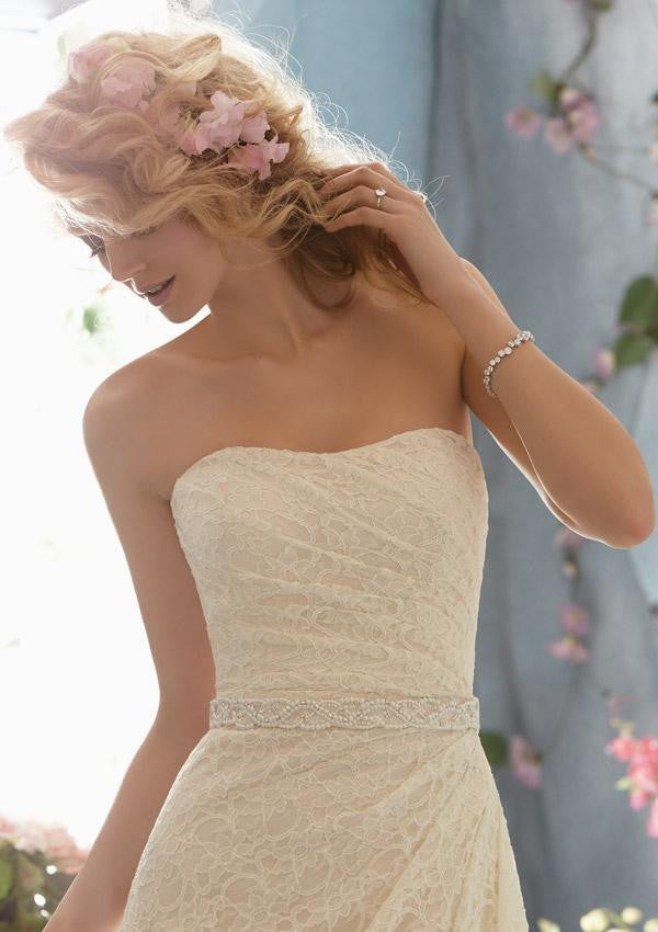 11043 BEADED SATIN TIE SASH