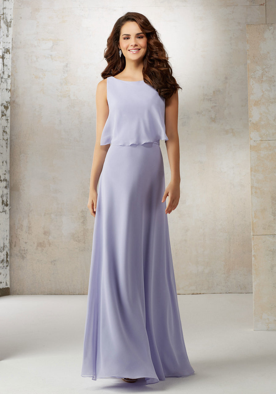 10491 Chiffon A-Line Bridesmaids Dress
