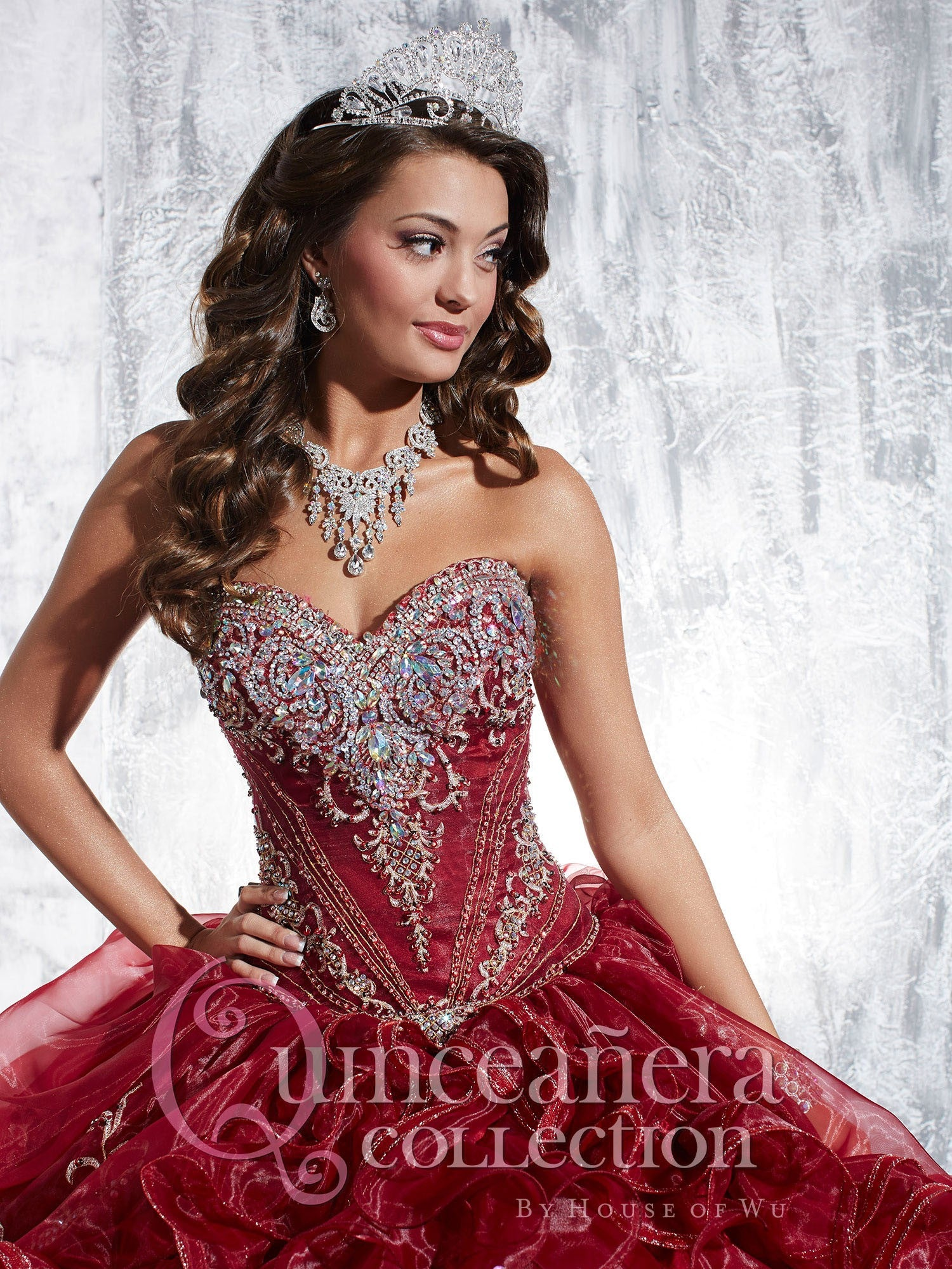 04f67513a5f House Of Wu 26889 Ruffled Skirt Quinceanera Gown – Home Garden And ...