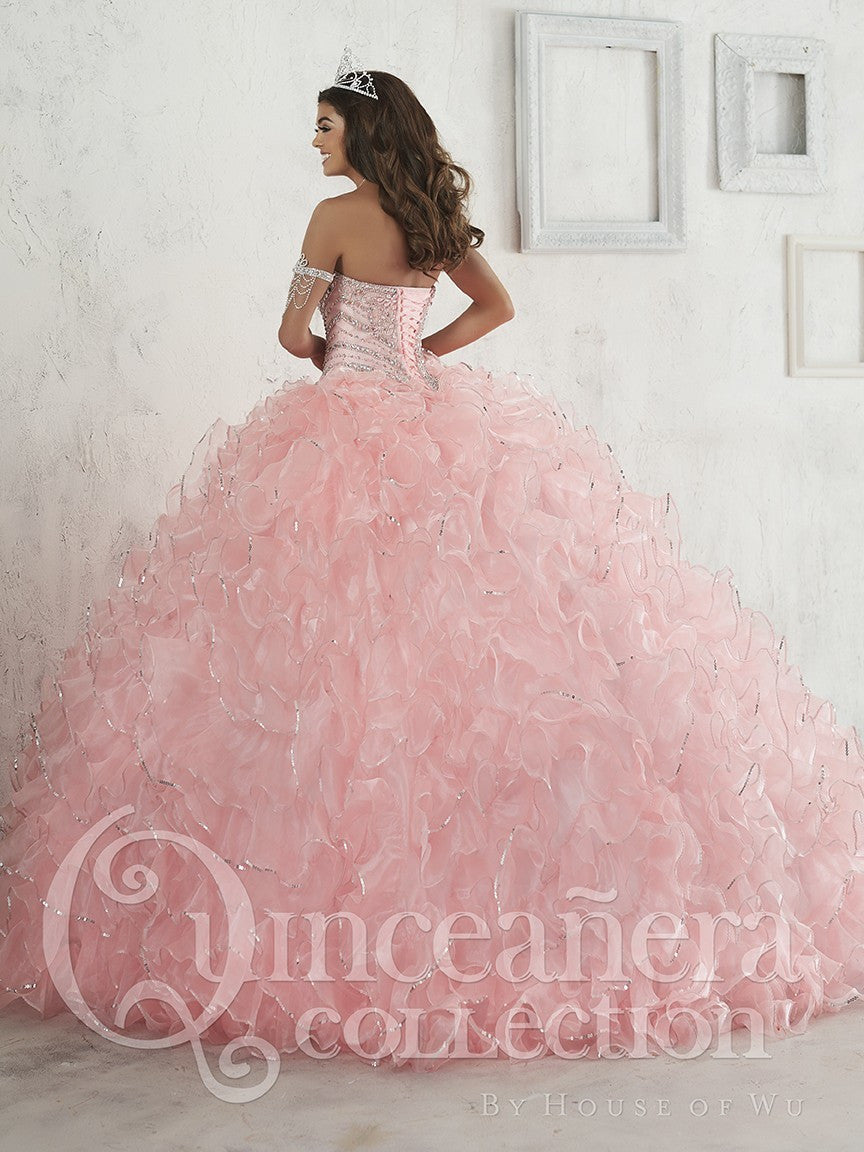 26845 Strapless Sweetheart Ball Gown with Ruffled Skirt and Beaded Bodice