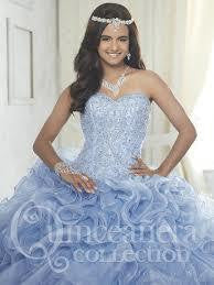 26847 Strapless Sweetheart Quinceañera Gown with Ruffled Organza and Sparkle Tulle Skirt