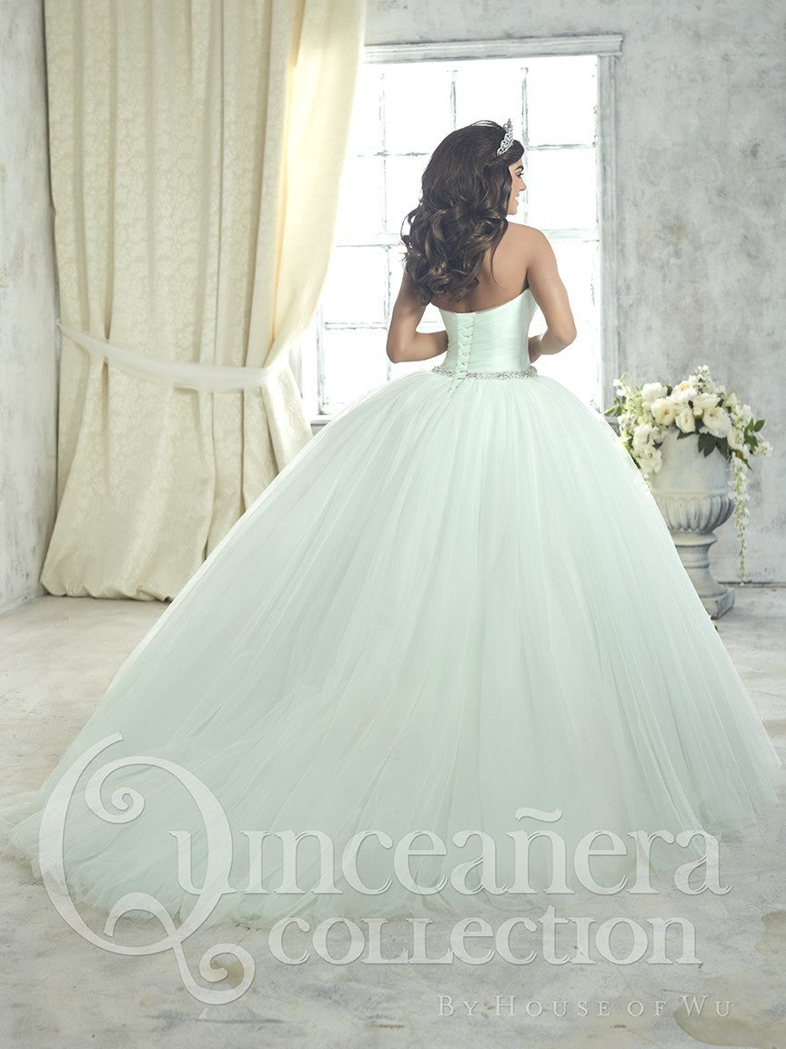 26849 Beautiful Tulle Ball Gown with Beaded Waistband