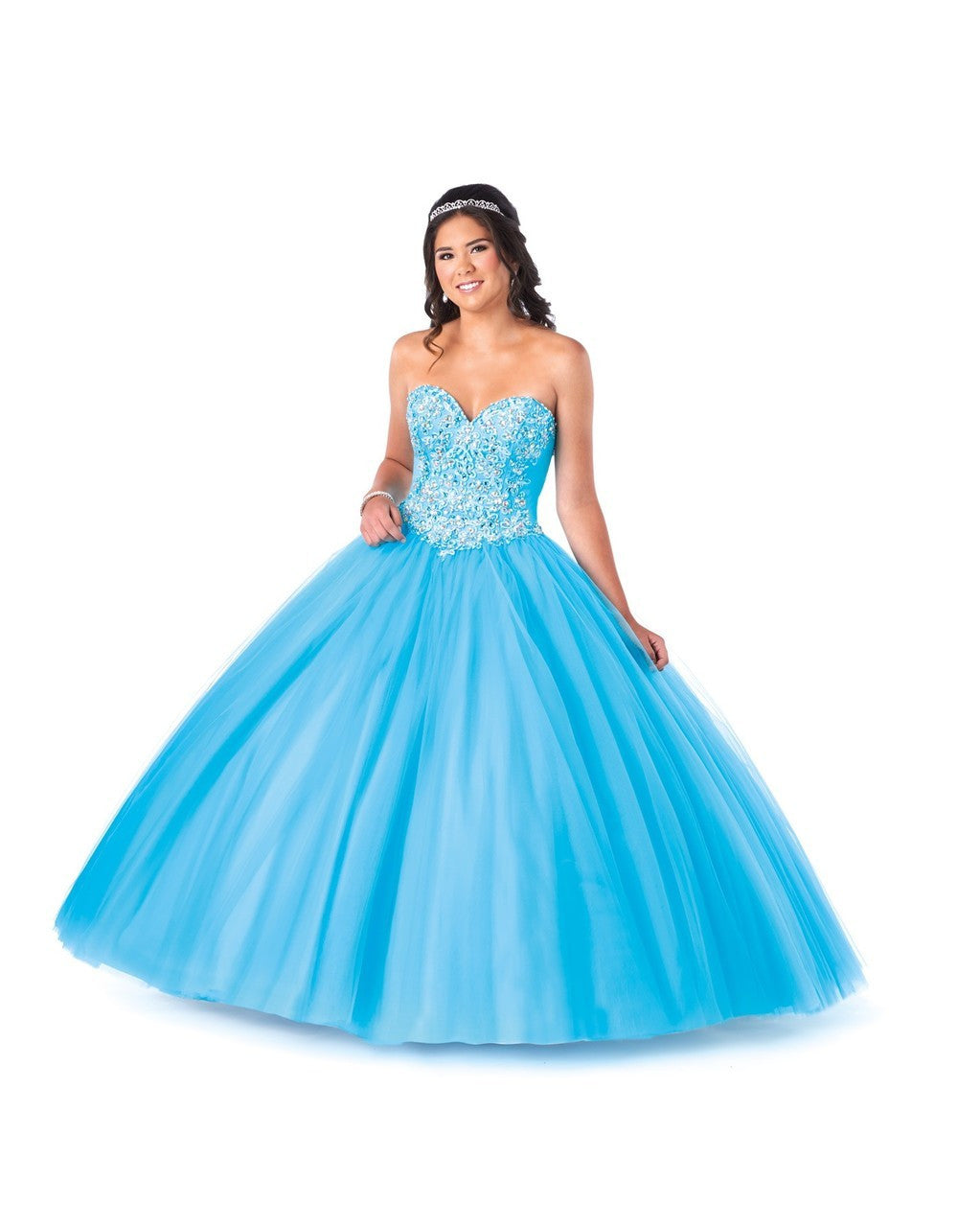 Sweetheart Tulle Ball Gown with Beaded Bodice and Corset Back ...