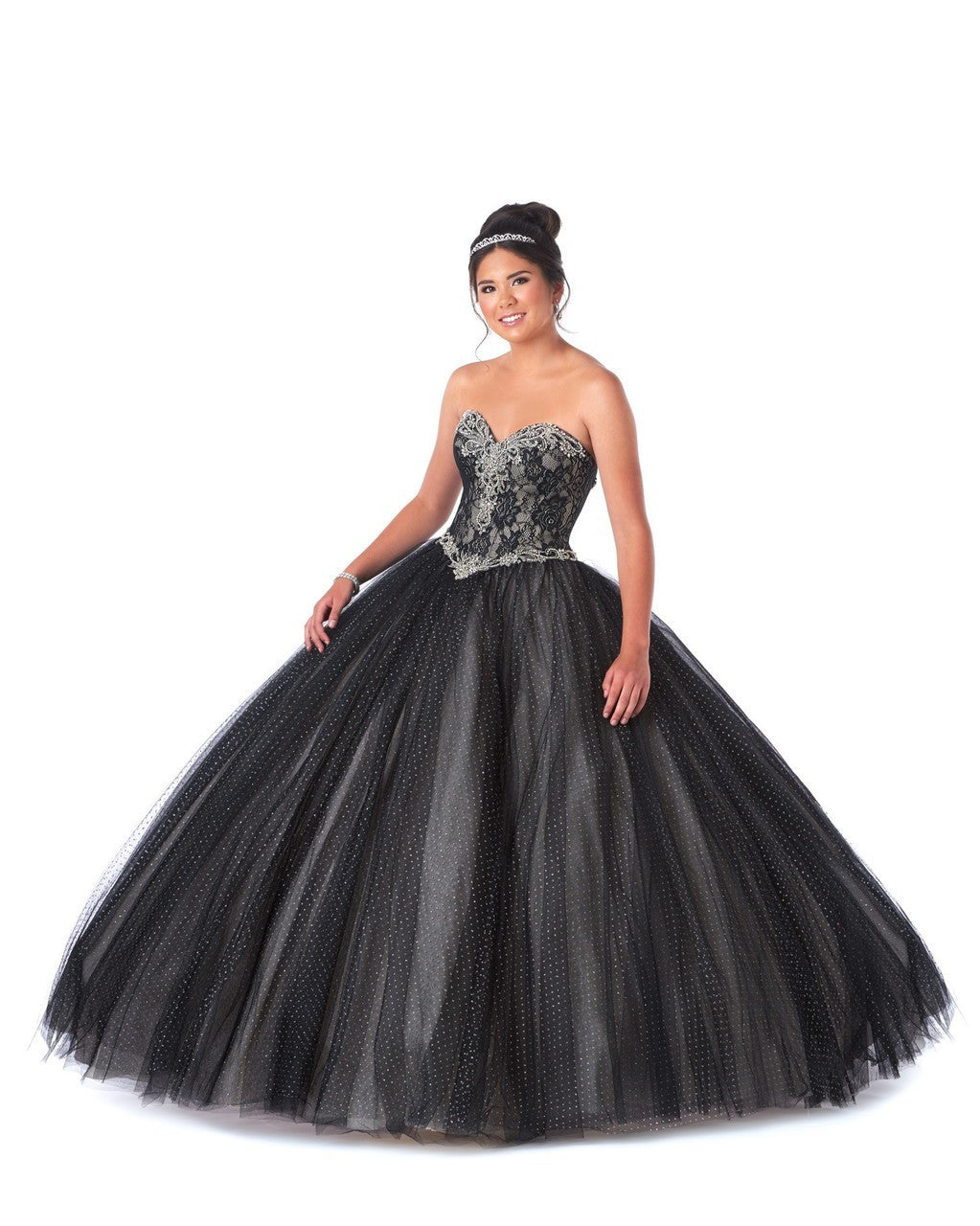 Sparkle Tulle Ball Gown With Sweetheart Neckline and Corset Back ...