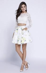 6220 Short Yellow Floral Two-Piece