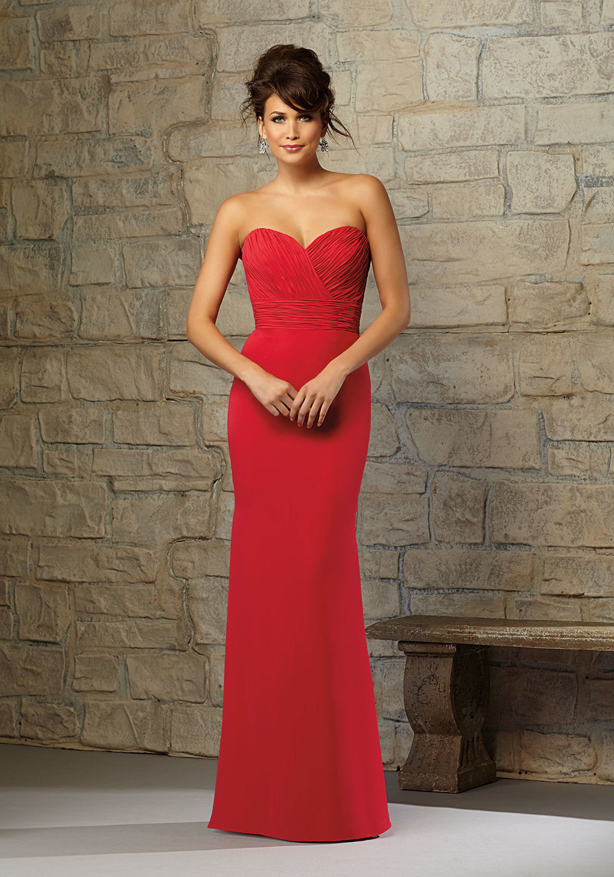 604 Chiffon Bridesmaids Dress with Sweetheart Neckline