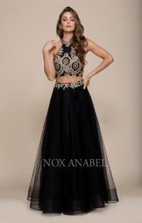 8205 Two Piece A-Line Gown