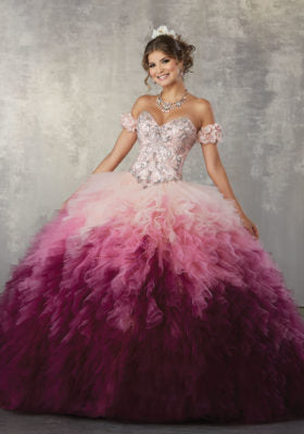 78050 Quinceañera Ballgown featuring a Sweetheart Neckline, and Beaded Bodice.