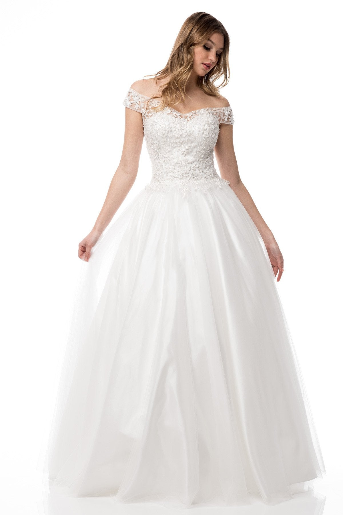 CCW61232 Off the shoulder, sweetheart neckline, ball gown