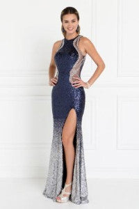 GL1573 Long Sequins Gown
