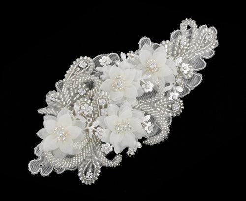 R8-4098 Bridal Headpiece with Floral Details