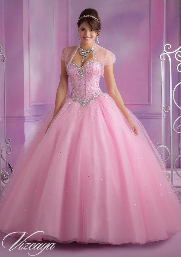 89017 Stylish Tulle Quinceanera Dress with Beading