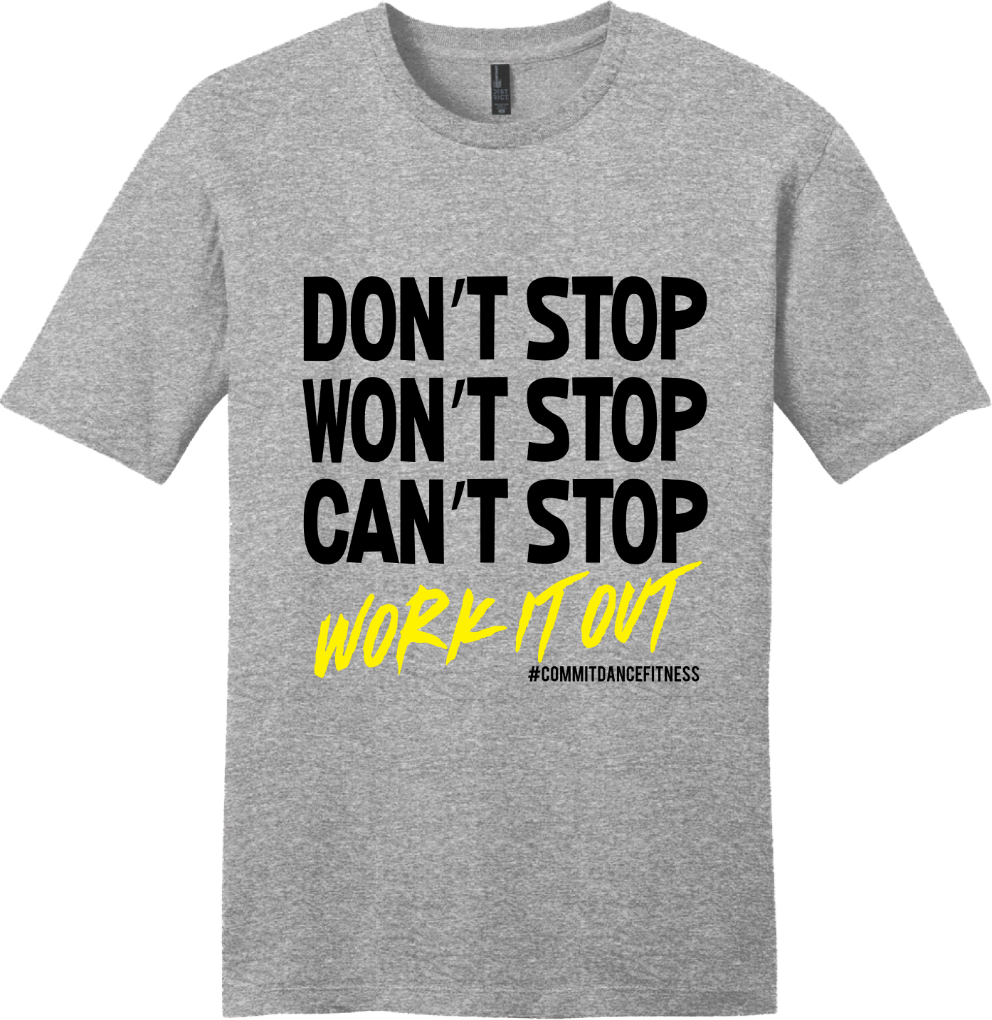 Work It Out Tee - Grey