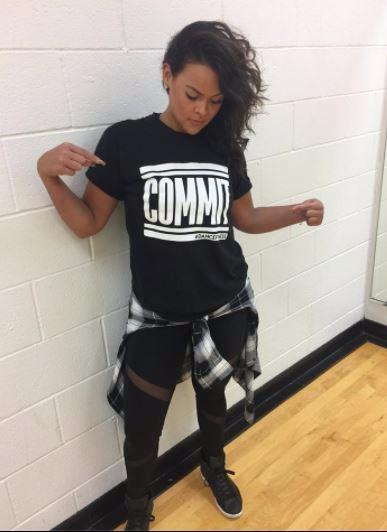 COMMIT Tee - Black w/ White Print