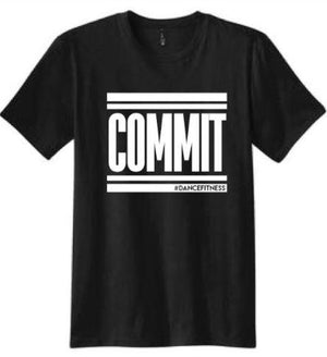 Youth COMMIT Tee - Black w/ White