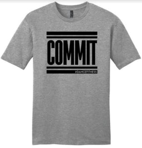COMMIT Tee - Grey w/ Black Print