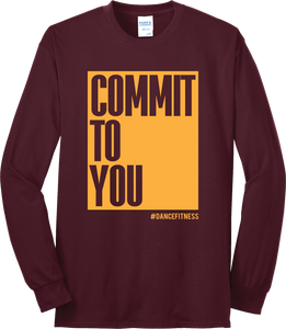 COMMIT to You Maroon Long Sleeve