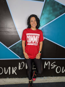 COMMIT Tee - Red w/ White