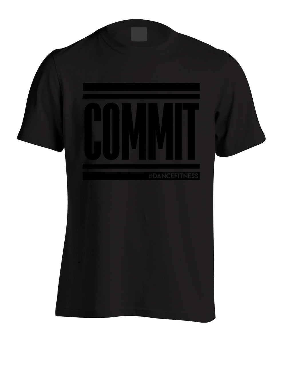 COMMIT Tee - Black w/ Black Print