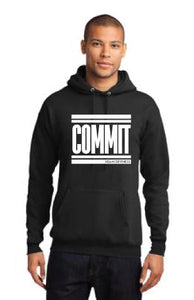 COMMIT Unisex Hoodie - Black w/ White