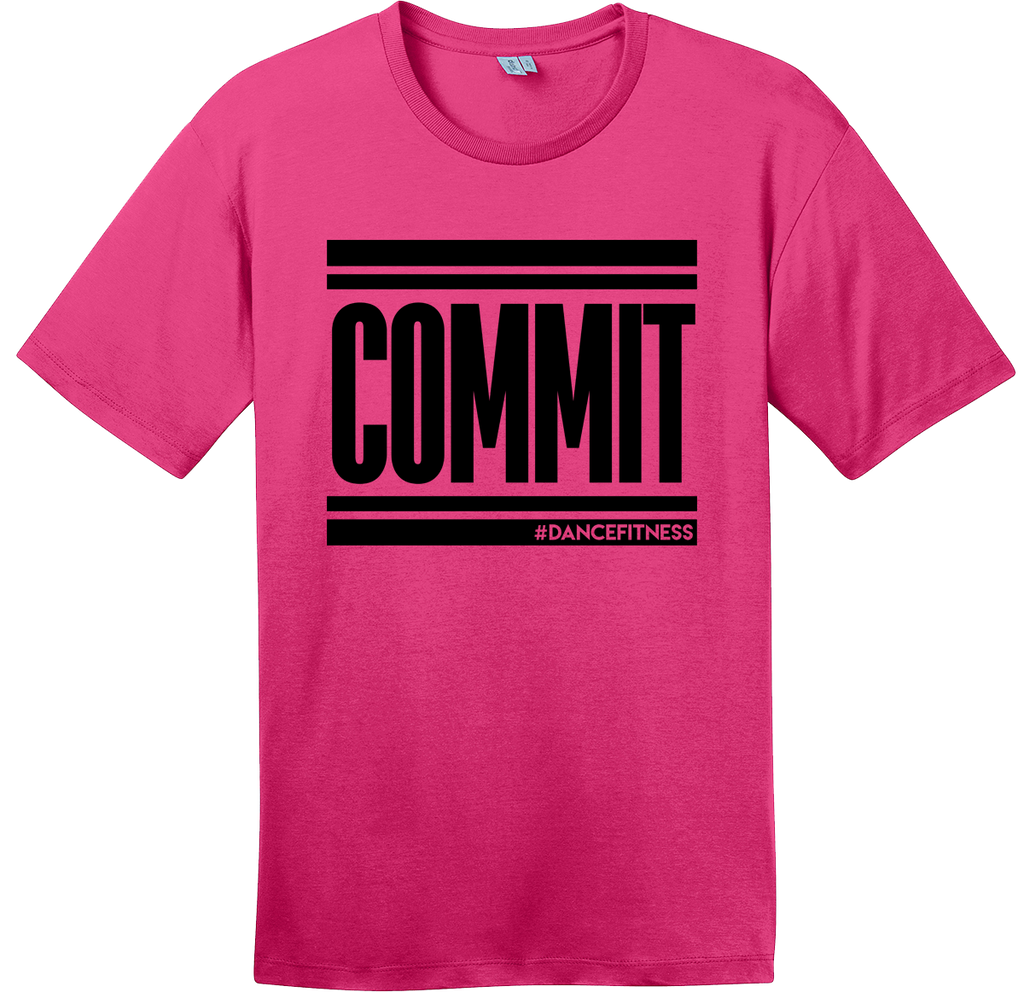 COMMIT Tee - Pink w/ Black