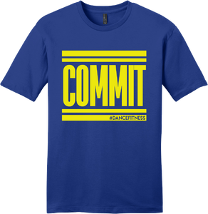 COMMIT Tee - Blue w/ Yellow