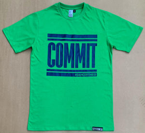COMMIT TEE GREEN w/NAVY