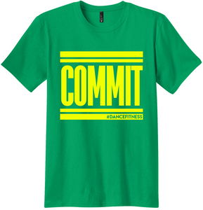 COMMIT tee - Kelly Green with Yellow