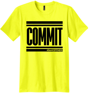 COMMIT tee - Neon Yellow with Black